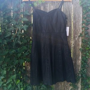 BNWT FREE PEOPLE FAUX LEATHER PARTY DRESS